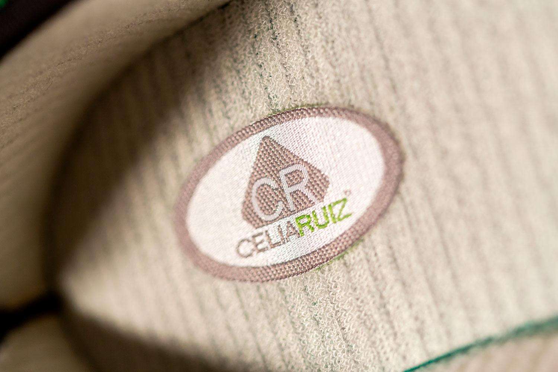 Celia Ruiz. Etiqueta planta de tela Celia Ruiz